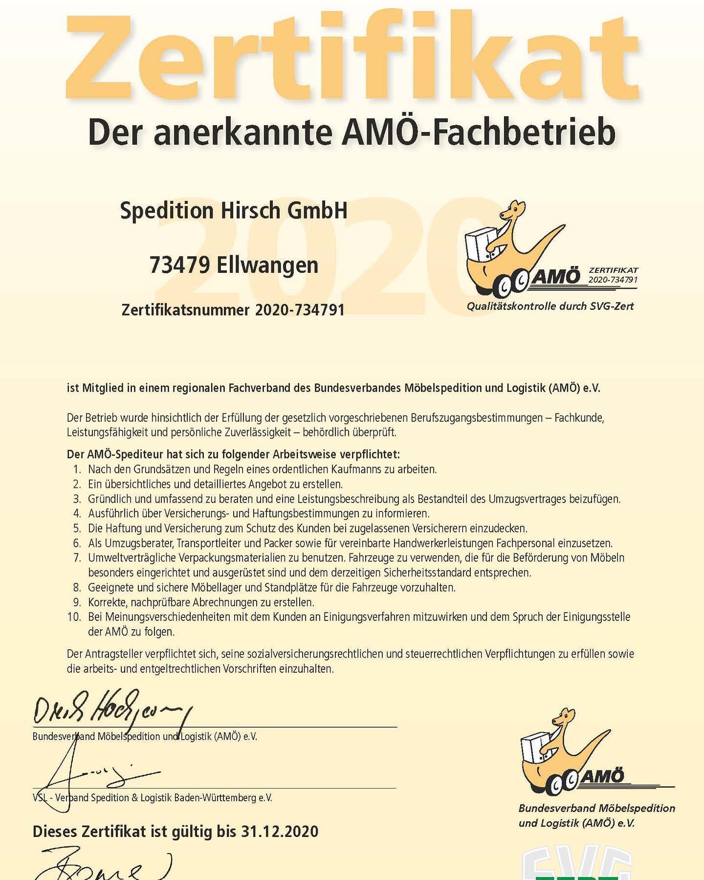Wir sind anerkannter AMÖ-Fachbetrieb!