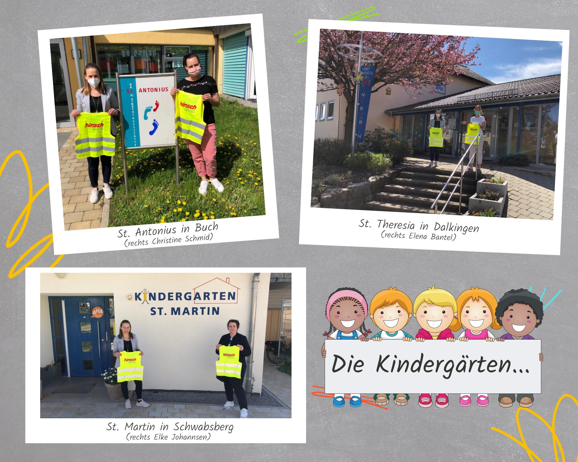 Read more about the article Warnwesten an Kindergärten in Buch, Dalkingen und Schwabsberg  gespendet